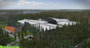 "Rendering of Facebook's ""rapid deployment data center"" in Lulea, Sweden"