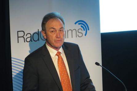 ACMA Chairman Chris Chapman at the Radcomms conference in Sydney. Credit: Adam Bender