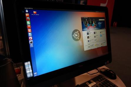 Ubuntu Kylin running on a desktop.