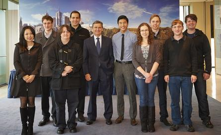 Huawei Australia director, John Brumby, with a group of the students. Credit: Huawei