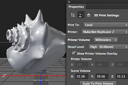 Adobe adds 3D printing support to Photoshop