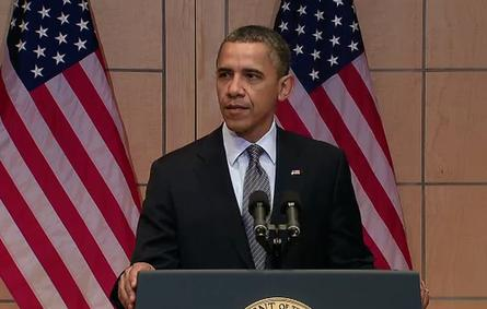 U.S. President Barack Obama announces sanctions for the export of monitoring technology to Syria and Iran.