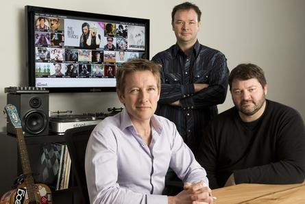 We Are Hunted founders (left to right) Richard Slatter, Michael Doherty and Stephen Phillips.