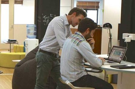 Startups collaborate at the WeCo co-working space in Sydney's Eastern Suburbs. Credit: WeCo