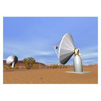 Visualisation of ASKAP antennas at the Australian candidate SKA site. Image credit: Paul Bourke