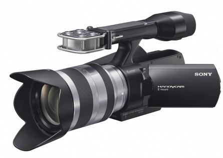 Hands-on with Sony's NEX-VG10 interchangeable-lens camcorder
