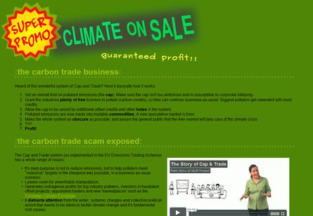 Climate activists ply hack and trade