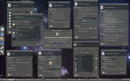 An example Xfce 4.8 desktop environment