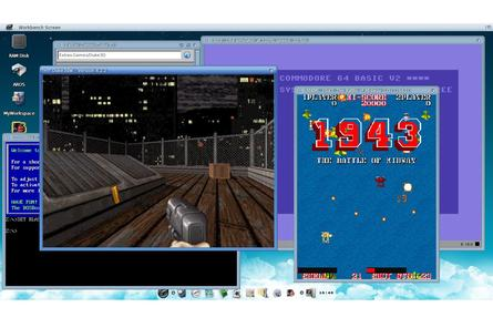 Icaros provides emulators to run a large library of old games and applications.