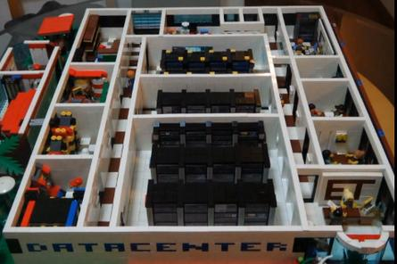 A data centre built with LEGO