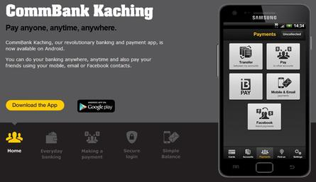 Commonwealth Bank unveils Kaching for Android