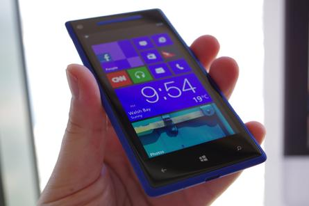 One of the new Windows Phone 8 devices, the HTC Windows Phone 8X.