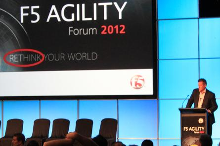 F5 ANZ managing director Kurt Hansen addresses the F5 Agility Forum.
