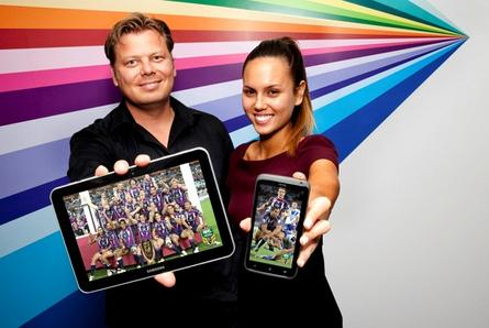 A demonstration of what NRL fans will see in 2013 when they tune into live streaming of NRL matches on their tablet or smartphone.