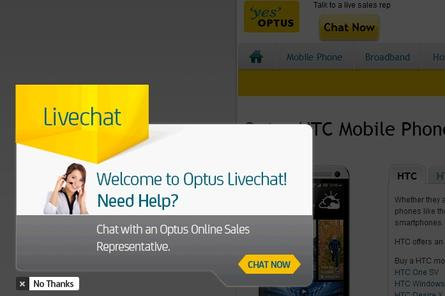 Online chat gives Optus sales a lift