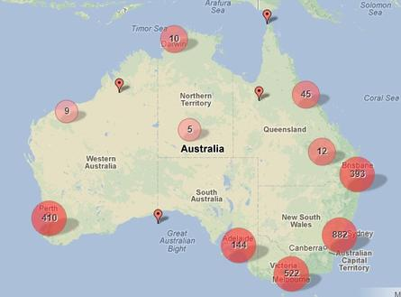 The ABC viewer data, which is now in the public domain, contains longitude and latitude information in each record which is presumed to be from the user's location services on the device they connected to the site with. 
