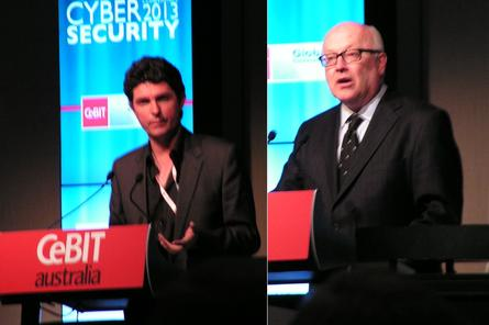 Federal senators Scott Ludlam and George Brandis.