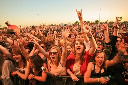 The crowd goes wild during triple j's One Night Stand at Tumby Bay, South Australia in 2011. Photo supplied by triple j.