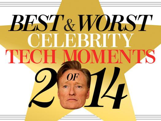 In pictures: Best and worst celebrity tech moments of 2014