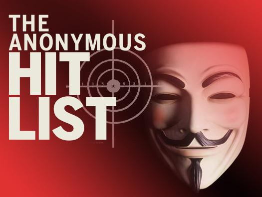 In Pictures: The Anonymous hit list
