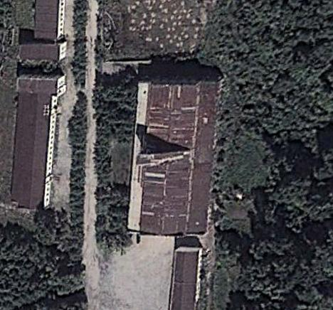 This image from Google Earth shows the location of one of two missile launcher factories discovered in North Korea