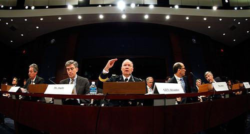 NSA director Gen. Keith Alexander and other U.S. officials testifying before Congress