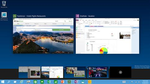 You can create multiple desktops to keep things organized—whether for work or personal use, or both.