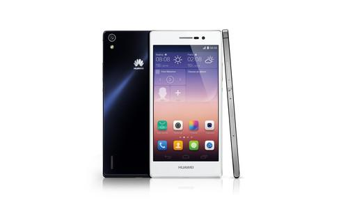 Huawei's Ascend P7 has an 8-megapixel front facing camera and a 13-megapixel camera on the back.