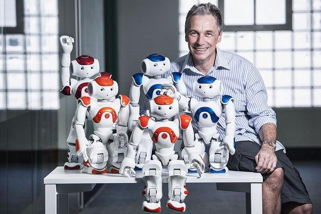 Professor Peter Corke from QUT is a leading roboticist who has developed the world's first robotics MOOCs designed for undergraduates. Credit: Erika Fish