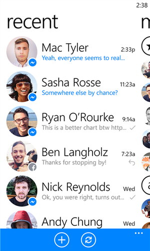 Facebook Messenger for Windows Phone