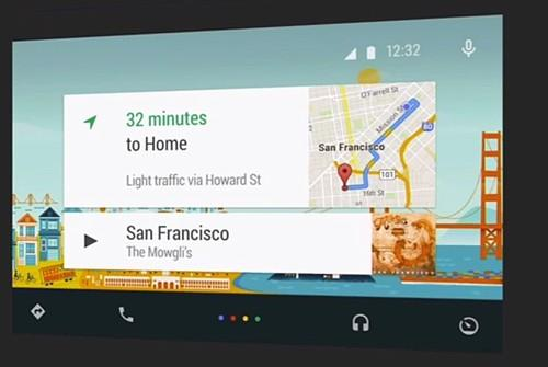 With Android Auto on a smartphone connected to the car, users can access navigation, traffic info and music in their cars via voice.