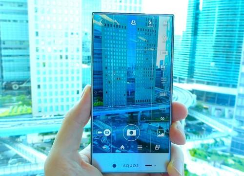 Sharp's Aquos Crystal smartphone, which has a display with a very thin bezel, is being launched by  SoftBank in Japan and Sprint in the U.S.