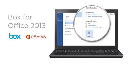 Box has integrated its cloud storage and file share service with Microsoft's Office productivity apps suite