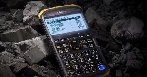 Casio's fx-FD10 Pro ruggedized calculator can stand up to shocks, splashes and dust. It's aimed at civil engineers amid a construction boom in Asian countries.