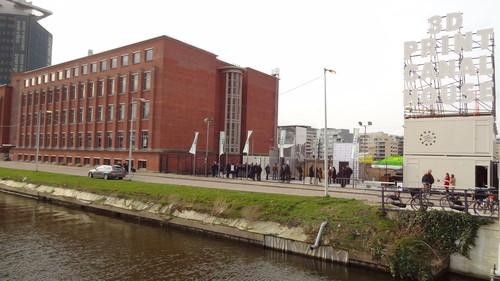 The vacant lot in the north of Amsterdam where a fully 3D-printed canal house should be standing within three years.