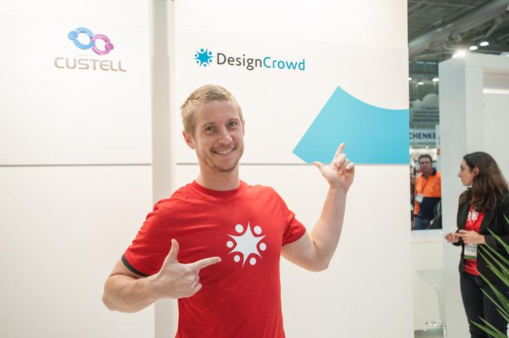 DesignCrowd founder and CEO, Alec Lynch at CeBIT. Credit: DesignCrowd