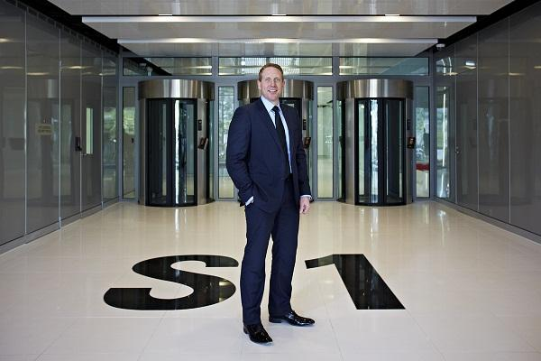 NextDC CEO Craig Scroggie at the entrance to S1.