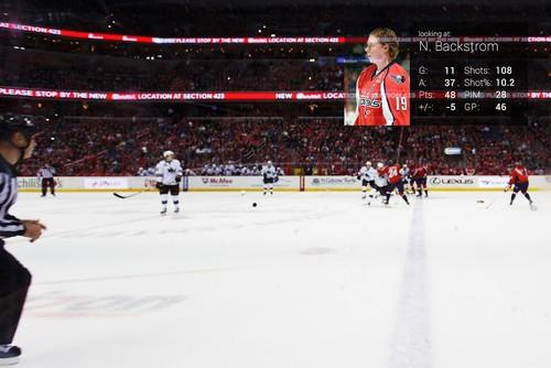 The Washington Capitals partnered with APX Labs to deliver real-time stats to Glass wearers during games.