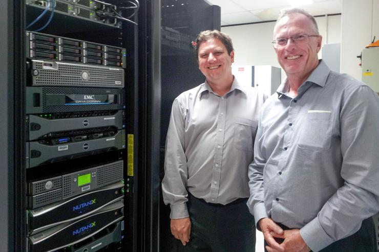 Cameron McNaught, technical services officer, Hornsby Shire Council, and Craig Munns, ICT manager, Hornsby Shire Council.