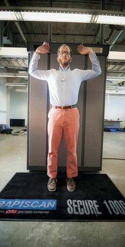 Hovav Shacham of the University of California at San Diego was part of a team of researchers who have showed how weapons can be concealed from the Rapiscan Secure 1000 body scanner, which was in wide use in U.S. airports through last year.