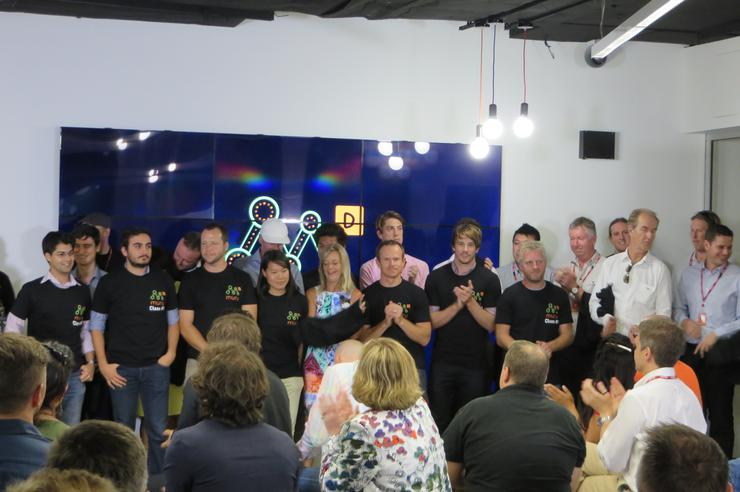 Telstra announced the startup teams who will receive investment at the muru-D co-working space in Paddington last night. Credit: Adam Bender
