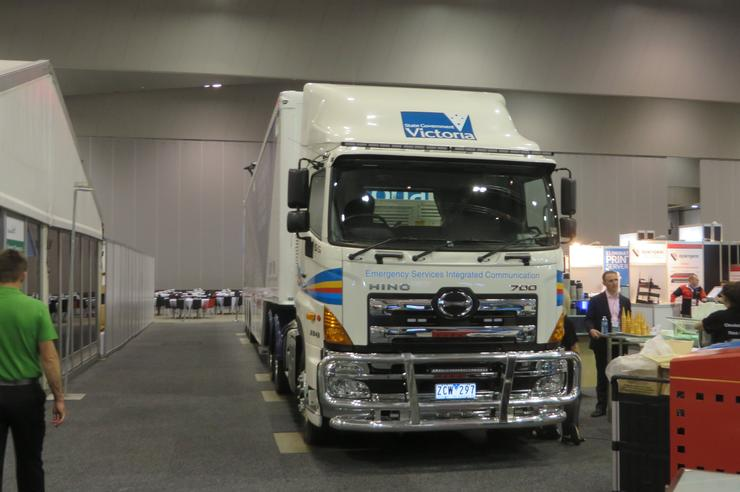 The Emergency Services Integrated Communications (ESIC) parked inside Cisco Live in Melbourne.