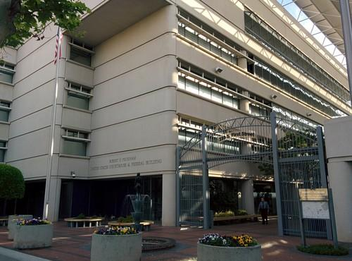 The federal court building in San Jose, California, on April 11, 2014