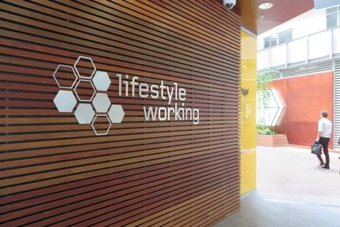 Lifestyle Working Collins Street is a green office building in Melbourne with a focus on flexible working.
