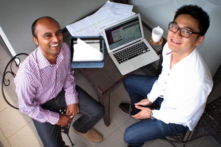 Pocketbook co-founders Alvin Singh (left) and Bosco Tan. Credit: Pocketbook