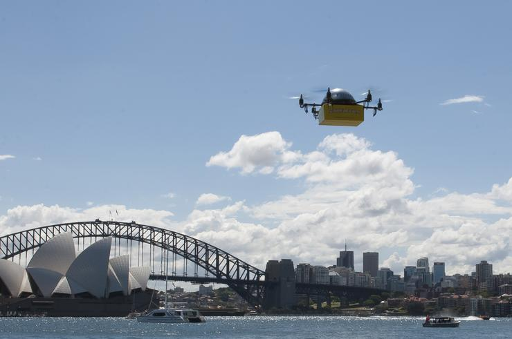 The drones will deliver textbooks in the Sydney CBD. Credit: The PR Group