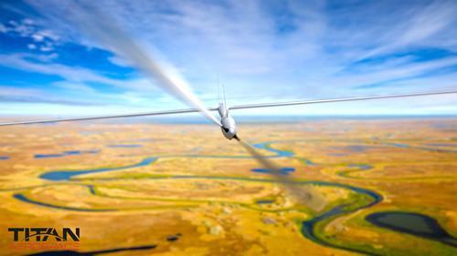 Titan's Solara 50 unmanned, solar powered aircraft.