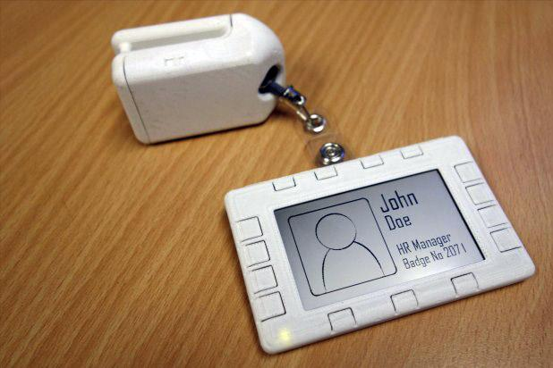 The prototype badge. Credit: Microsoft Research.
