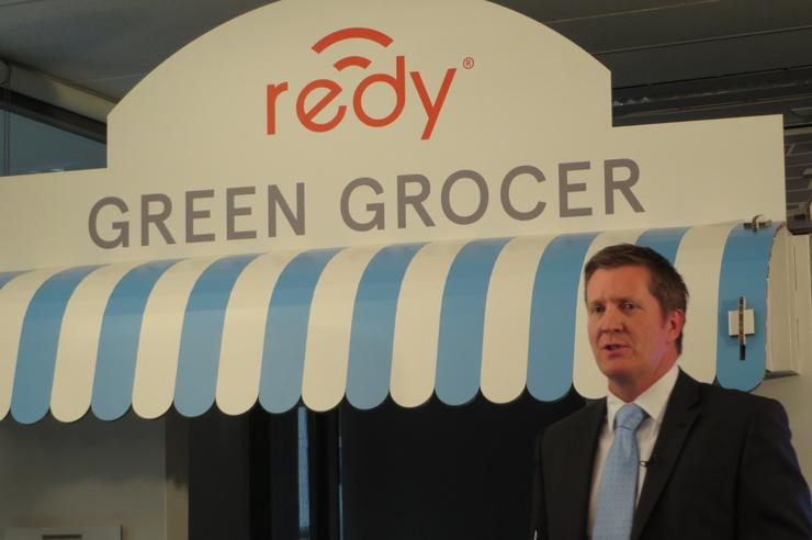 Community Telco Australia CEO David Joss unveils Redy by Bendigo Bank.