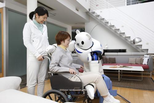 Japanese research center Riken has upgraded its nursing-care robot, now called Robear, with better tactile sensors for a softer touch. The machine is expected to help move bedridden patients into wheelchairs in nursing homes in Japan, which has a rapidly ageing population.